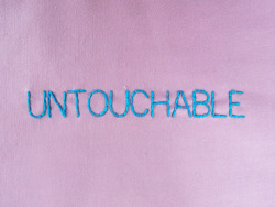 andsewfortoday:  DAY TWO HUNDRED AND FOURuntouchable noun 1. beyond the reach of criticism or attack or impeachment <4 strands on poly cotton>