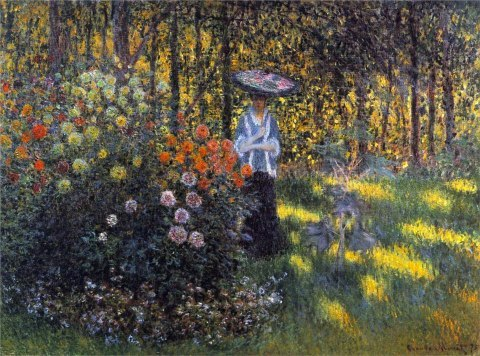 fuckyeahimpressionism:  Claude Monet - Woman with a Parasol in the Garden in Argenteuil (1875)