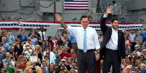 Romney introduces Paul Ryan as his running mate (Photo: Jim Lo Scalzo / EPA) Presumptive GOP presidential nominee Mitt Romney introduced his choice as running mate, House Budget Committee Chairman Paul Ryan, 42, Saturday morning at a campaign event in Norfolk, Va. The Romney campaign earlier announced the choice in a press release Saturday morning.  Read the complete story.