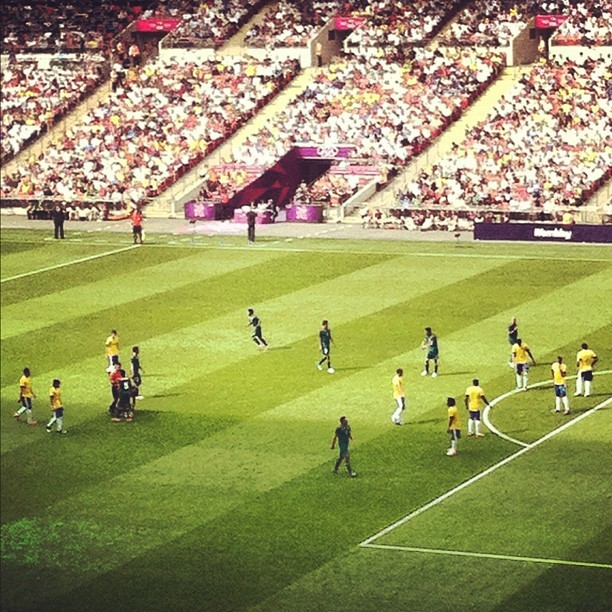 #brazil vs #Mexico live and direct.  (Taken with Instagram at Wembley Stadium)