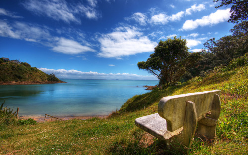 creative writing prompt: Describe the view/ setting from that bench :)