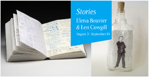 stories-bouvier-cowgill (by heavybubble) Stories pairs handmade artist books by Elena Bouvier and bottled drawings by Len Cowgill. Their work is intimate — visualizations of openness and containment. Both artists tell stories in a poetic visual shorthand that encourages an imaginative shared experience. www.ebouvier.com www.lencowgill.com  More about the exhibition : www.heavybubble.com