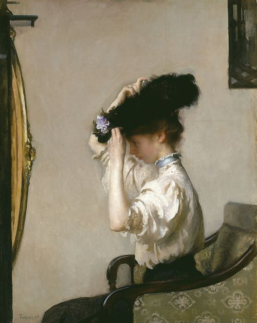 artandopinion:  Preparing for the Matinee 1907 Edmund Charles Tarbell