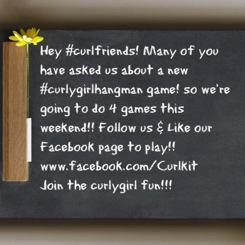 New #curlygirlhangman games will be posted this weekend. One lucky winner will get a free full size just by playing!! Join the. #naturalcurlfun now!! Like our Facebook page to play!!  (Taken with Instagram)