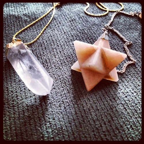 Souvenirs from the south. A #pendulum and #quartz charm necklace. #jewelry #fashion #precious #stones #instadaily #instahub #igers  (Taken with Instagram)