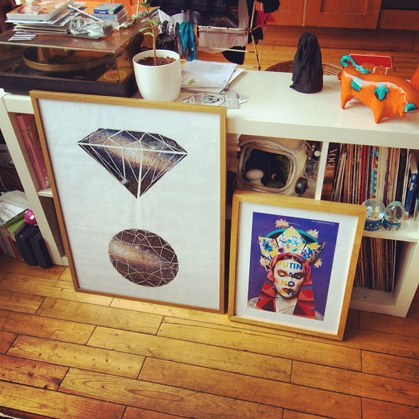 Framing day. @eleanormarechal & @laylasailor are the best. (Taken with Instagram)