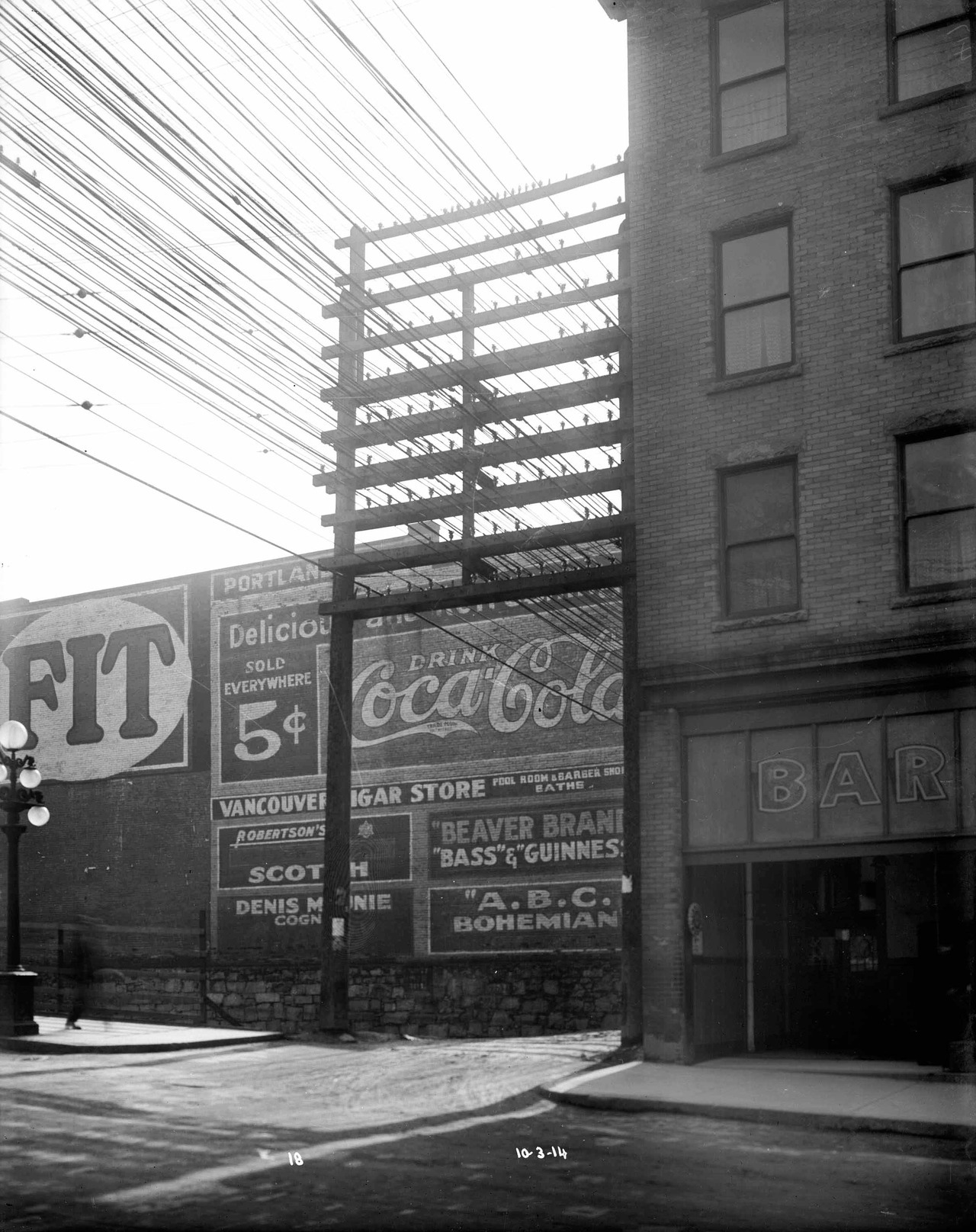 Pender Street, west of Main, Tuesday 10 March 1914 Source: City of Vancouver Archives #LGN 1231