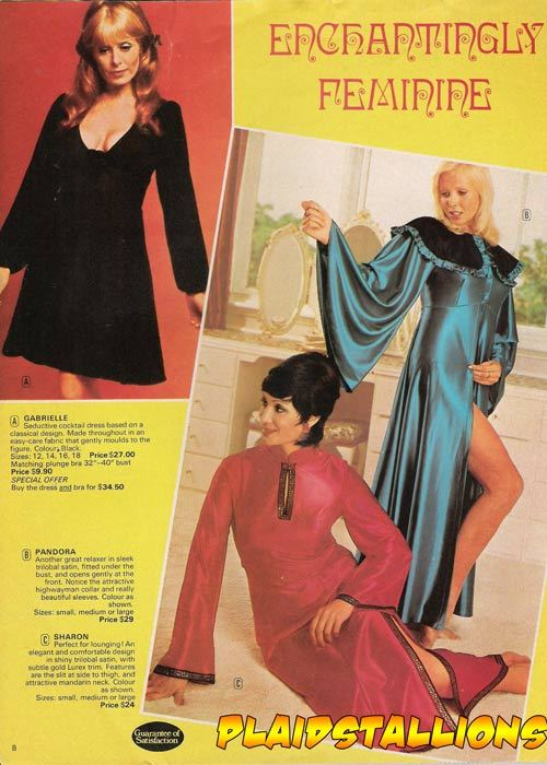 70's lingerie catalogue