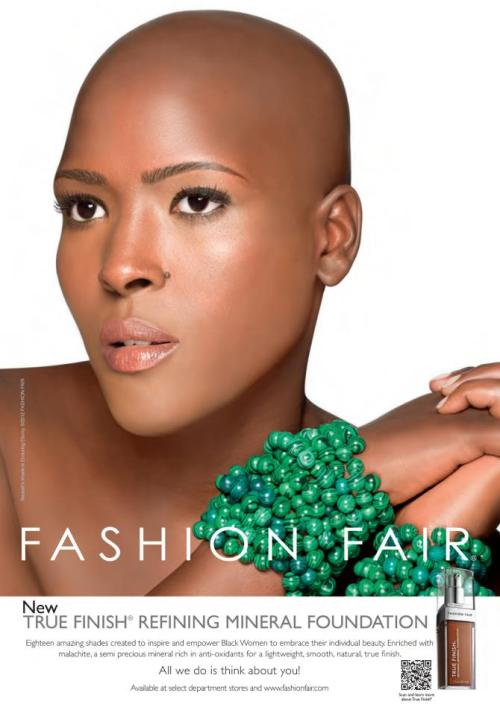 The Visual: Amanda Nassali Kiggundu for Fashion Fair Cosmetics.