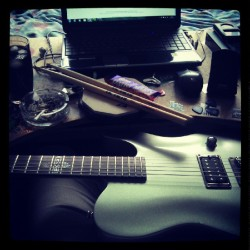 Home practise. (Taken with Instagram)  (Practise or Practice?)