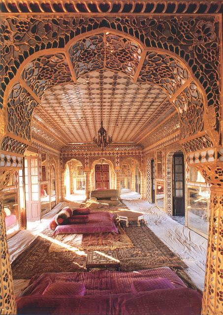 draupadi:  rajasthani haveli interior, Indian Interiors