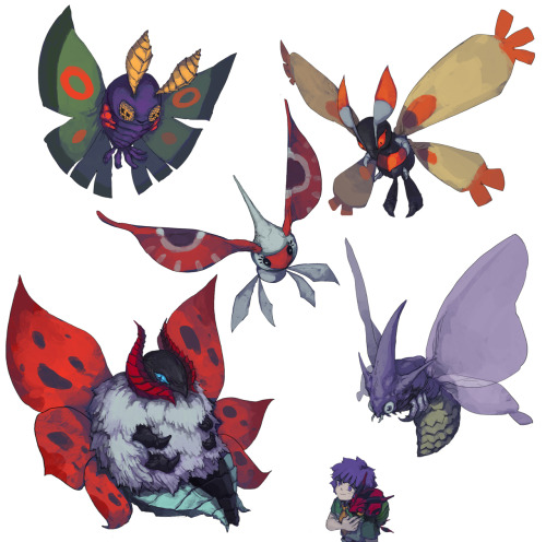 overlookedpokemon:  POKEMON : MOTH POKEMONS by *GO-VG