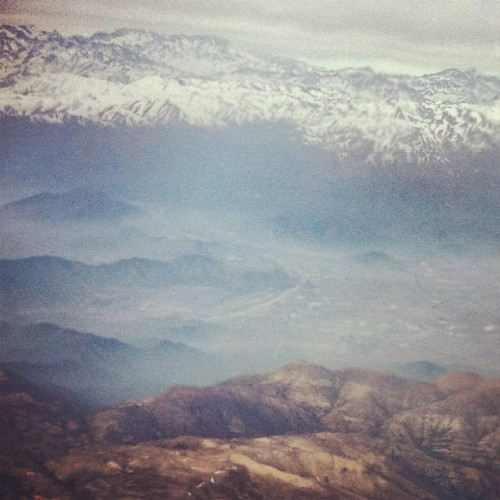 Chile from the air (Taken with Instagram)