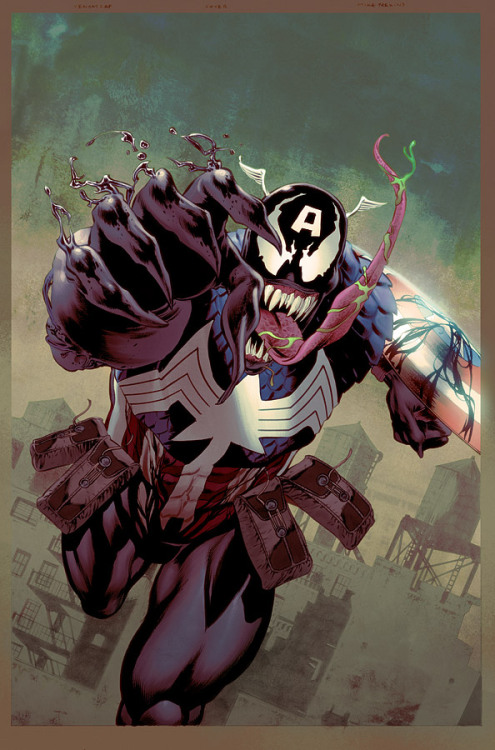 goodguycomics:  Captain America Venom variant by JohnRauch   fudge is this real!