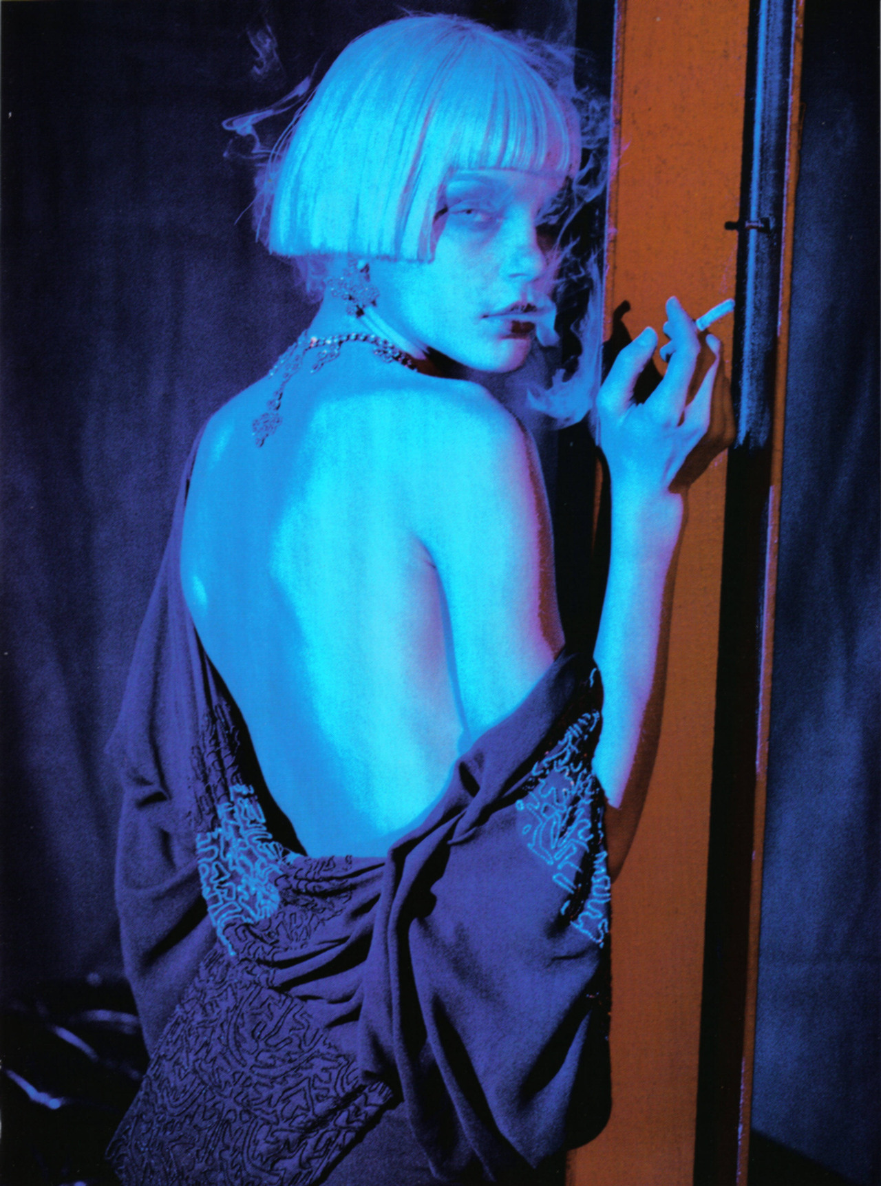 thedoppelganger:  Magazine: Vogue Italia April 2007Photographer: Peter LindberghModel: Jessica Stam