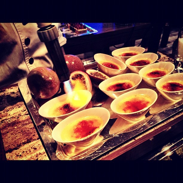 Freshly made Creme Brûlée - #birthday #fresh  (Taken with Instagram)