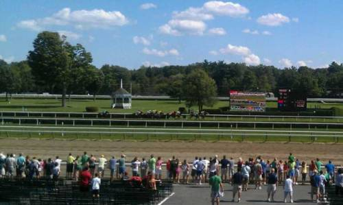 Mutato uploaded this wonderful photo from Saratoga Race Course. She had a great view of the horses, while they were racing, the scoreboards, and most of the track. (via Saratoga Race Course section S row J seat 7 shared by Mutato)
