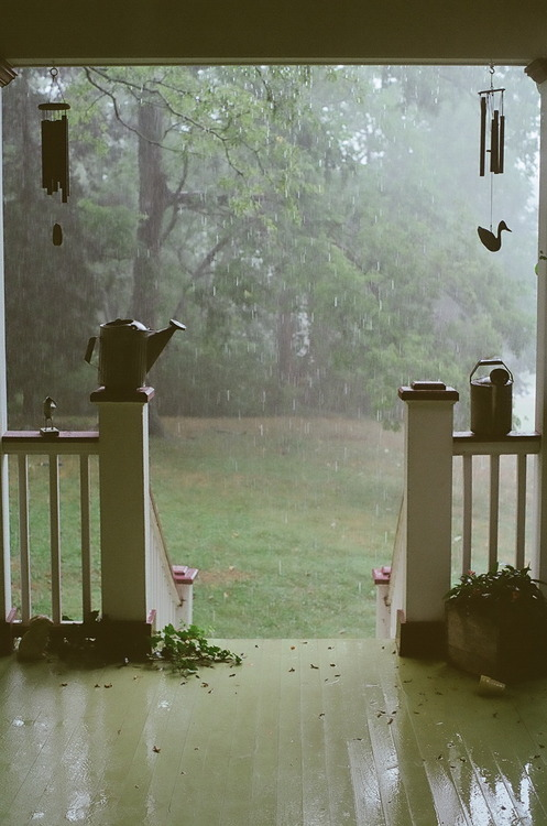 Summer Rain Porch, Brentwood, Tennessee photo by sasstastic
