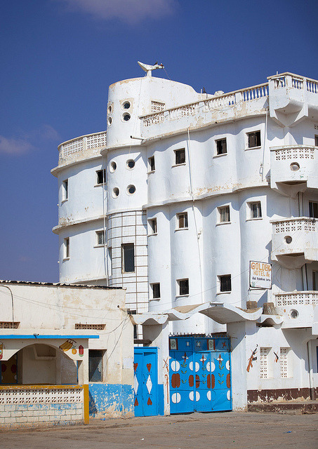Titanic Hotel in Burao - Somaliland by Eric Lafforgue on Flickr.