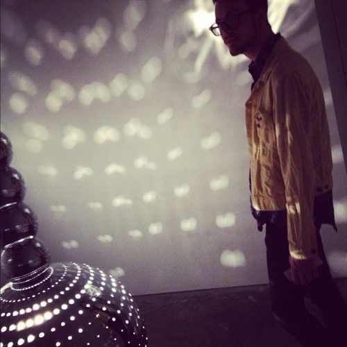 Disco madness. Man himself and the machine. (Taken with Instagram)