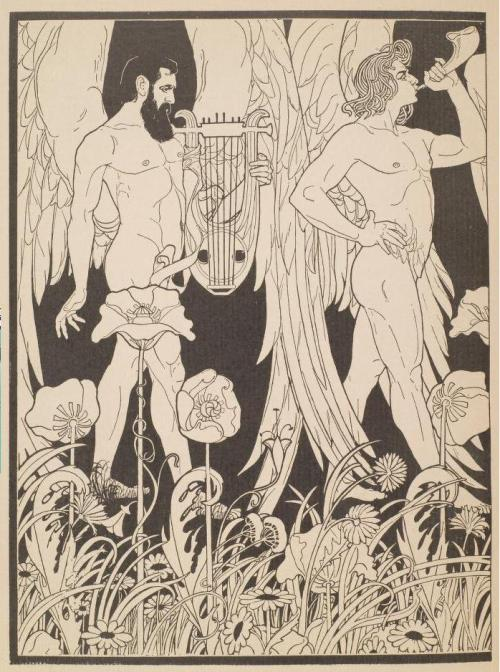 monsieurlabette:  Illustration by Ephraim Mose Lilien (1906)