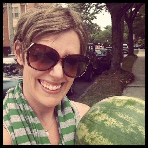 Just snagged this huge watermelon from #westchestermarket (Taken with Instagram)