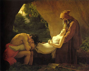 """The Entombment of Atala"" by Anne-Louis Girodet"