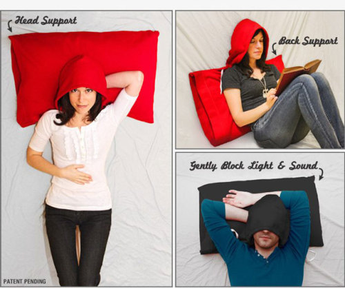 laughingsquid:  HoodiePillow Pillowcase, A Pillowcase with a Built-in Sweatshirt Hood