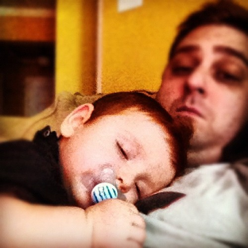 #jmav loves what we call a Daddy Nap (Taken with Instagram)
