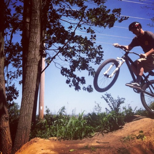 Photo from Greg of a friend from Trek at the pump track in wisco today. Miss you guys! (Taken with Instagram)