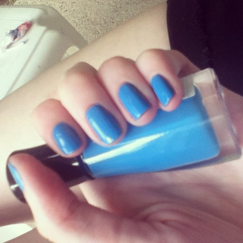 #nails #sallyhansen #iloveyou  (Taken with Instagram)