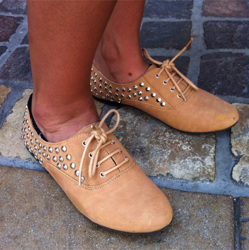 BTSS street style: Studded oxfords