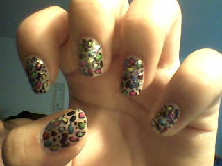 individual pic of the colorful leopard nails