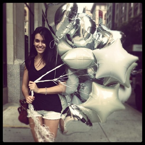 #happy #girl #balloons for #photoshoot @melanieseligman  (Taken with Instagram at NYC)