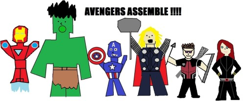 Decided to draw The Avengers in paint.