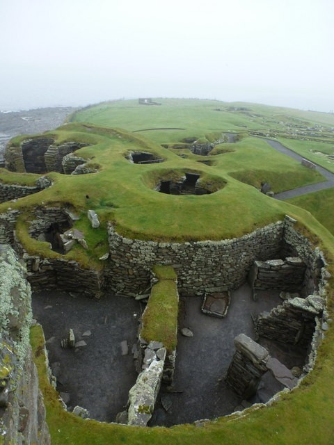Scotland - Jarlshof: looking down into a round house Photo by Chris Downer
