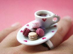 moepaka:  Macarons & Coffee by PetitPlat - Stephanie Kilgast on Flickr.