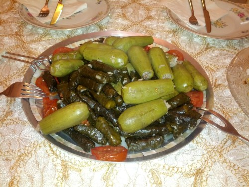 Cusa o wara2 (Stuffed Squash and grape leaves)