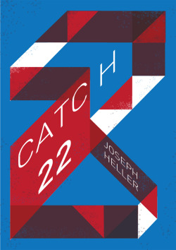 Catch 22 by Joseph Heller Book Cover # 18 Spent a while on this one, played around with paradoxical perspectives and such, first with the typography and eventually with this final illustration. Buy the high quality print over at Society6