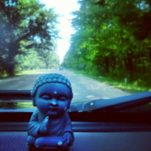 blakexkunkel:  I swear its the road that feels most like home anymore #blakelife #roadwarrior #drive #michigan #buddha #harmony #peace #bliss (Taken with Instagram)