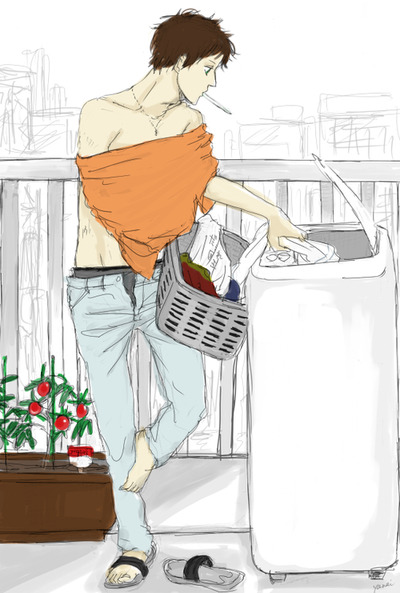 spain-loves-you:  Just doing my laundry~
