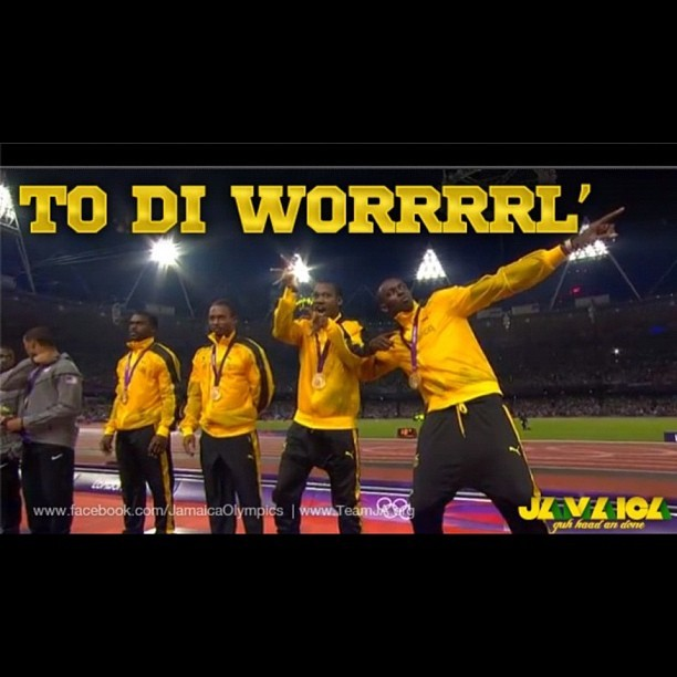 #newworldrecord #teamjamaica #2012olympics 4x100 #winning  (Taken with Instagram)