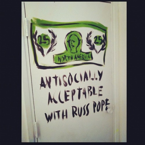 Russ was a fantastic and fun addition to Antisocial for the past couple of days . He is gone but his show is here in Vancouver until the end of the month ! come see some see !!!  @russpope- #webstagram