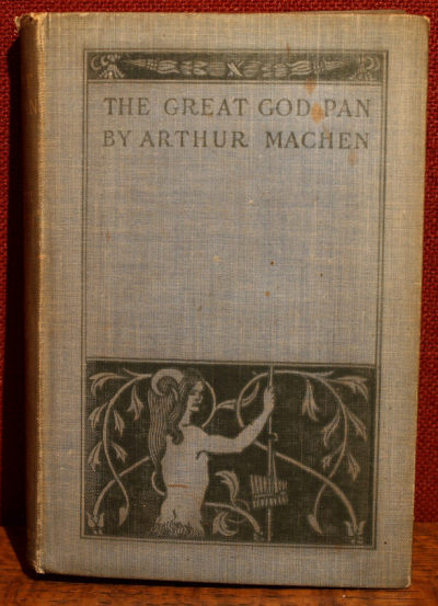 The Great God Pan and the Inmost light First Edition Arthur Machen 1894 Cover design by Aubrey Beardsley(?)