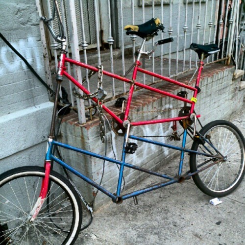 #tall #tandem #bike  (Taken with Instagram)
