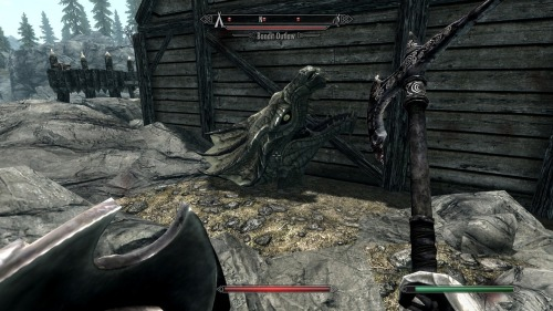 DRAGON BANDIT!! run!!!! funny glitches as seen throughout skyrim :)