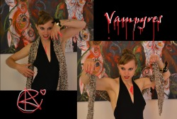 andreacoates:  A Poem about being a Vampyre im'Mortal Glittering Goddess of DOOM   photos of Andrea by me