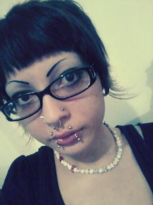Name: Nicole Age:15 City: North Charleston, SC Piercings Shown: Double nostril, septum, angelbites, snakebites, 3/4th lobe Piercings Not Shown: my other ear, smiley, frowny Retired Piercings: too many to count  Submitted by http://verrottenden.tumblr.com/