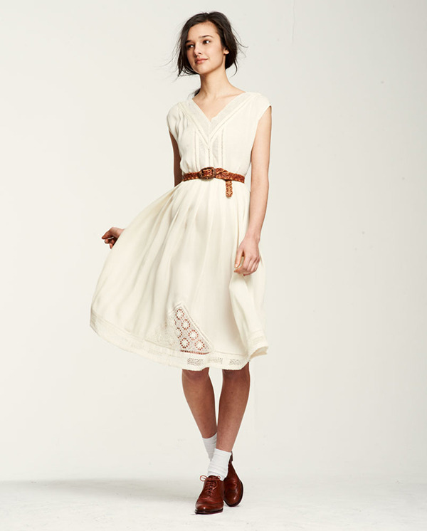 Wuthering Heights Cathy Silk Dress from Lauren Moffatt via calivintage