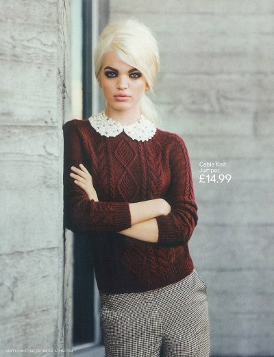 Daphne Groeneveld photographed by Alasdair McLellan for H&M Fall 2012